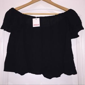New Persun off the shoulder crop top
